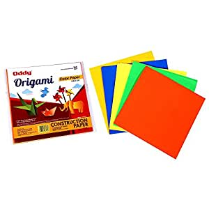 oddy multicolour origami paper double sided fluoredcent