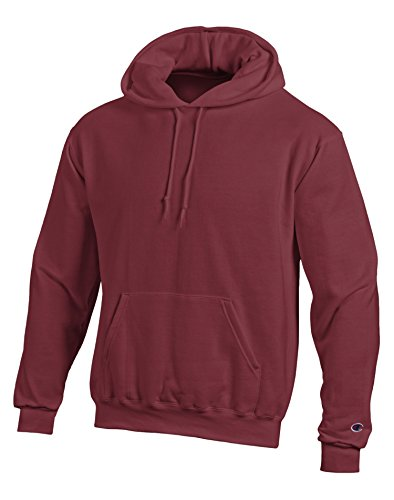 Champion Double Dry Action Fleece Pullover Hood S700, L, Maroon (Maroon Fleece Hoodie)