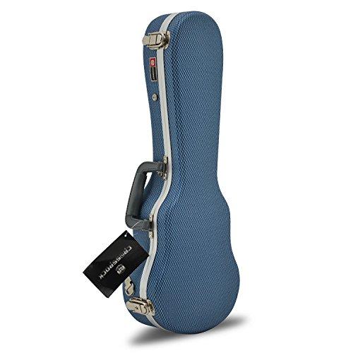 crossrock cra800subl ABS Sopran-Ukulele hartkunstoffschalenkoffer Fall, Blau