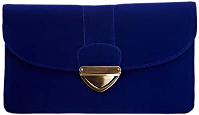 Louche Bags Womens Tampa Clutch Royal Blue