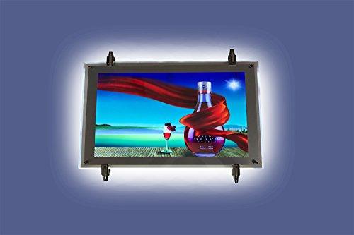 Worled kit-3Porta Schild mit Beleuchtung LED/Platte Halterung mit LED Hintergrundbeleuchtung/Kundenstopper Standard LED/Halterungen Vitrine LED Dienstleistungen Immobilien/Präsentationsständer Ordner LED C.202Vertikal oder Horizontal Modern 21_cm HORIZONTAL