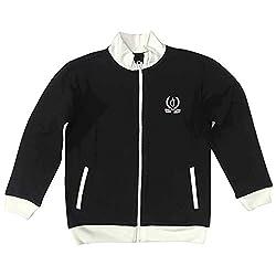 Gini & Jony Boys Zip Through Neck Solid Jacket_Black_10-11 Years