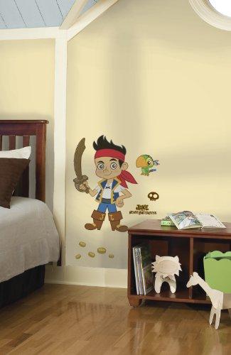 Preisvergleich Produktbild Roommates 17930 - Jake und die Nimmerlandspiraten Riesen-Wandtattoo/Sticker, geblistert, 53 x 81 cm