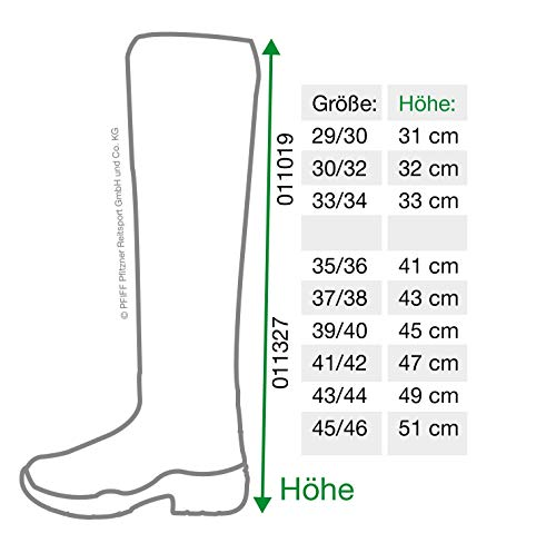 Pfiff Kinder Thermo Winterstiefel, Stallstiefel Winter Stiefel, Schwarz 31/32
