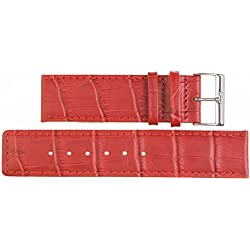 28 mm Imperial Watch Leather Band Wrist Watch Red Leather Watch Strap 28 mm Closing? E: Wei?