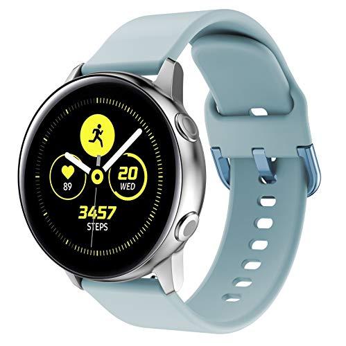 Yayuu para Samsung Galaxy Watch Active Correa, Silicona Reemplazo Correas 20MM Banda Pulseras de Repuesto Correa Suave Compatible con Samsung Galaxy 42MM Watch/Gear S2 Classic/Gear Sport