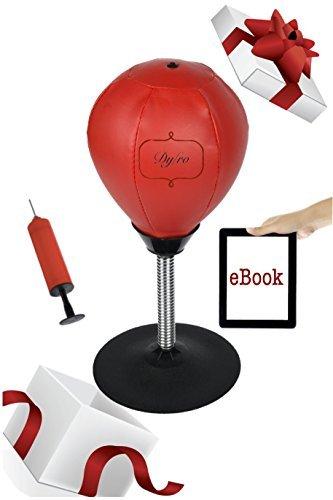 Dyfro Desktop Stress Buster Punching Ball, Boxsack für Büro, Schreibtisch-Spielzeug für Chef, Frauen und Männer, Geschenkidee für Stressabbau, Entspannungstherapie