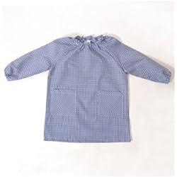 BATA ESCOLAR UNISEX MARINO - Medida bata infantil - 0-2 años (86-92 cm de altura)