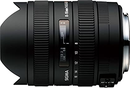 Sigma 8-16mm f/4.5-5.6 DC NAF - Objetivo para Nikon (distancia focal 8-16mm, apertura f/4) color negro
