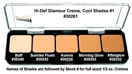 Graftobian HD Glamour Cream 5-color Foundation Palette, Cool #1 High Definition Makeup by Graftobian