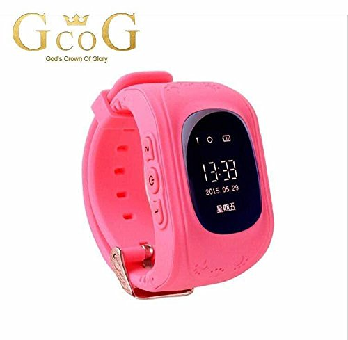 Reloj para Niños,TURNMEON® Reloj Infantil Pulsera Inteligente Localizador Compatible con Smartphones (Rose)