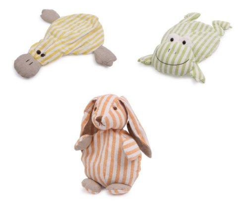 """Kirschkernkissen \""""Tiere\"""" im 3er Set, Hase, Ente und Frosch aus kuschelweichem Stoff, weich gefüttert und mit Kirschkernen gefüllt, sorgen für ruhigen und erholsamen Schlaf, in der Mikrowelle erwärmbar"""