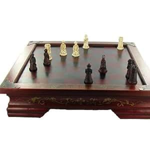 TABLE DE JEU D'ECHECS - Style Coffret Chinois Antique