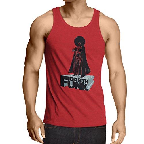 lepni.me N4347V Singlete I Love Funk (Small Rouge Multicolore)