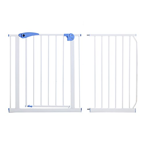 Yorbay Barrera de Seguridad con Bloqueo en Puerta para niños (120-130cm)