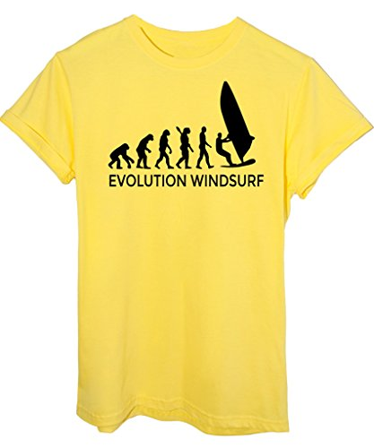 T-Shirt EVOLUZIONE WINDSURF SPORT - EVOLUTION - by iMage Giallo
