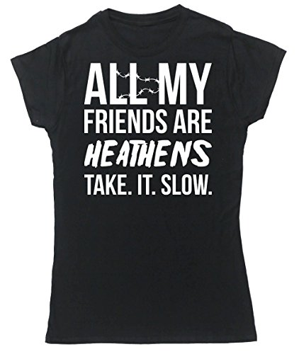 hippowarehouse-all-my-friends-are-heathens-take-it-slow-womens-fitted-short-sleeve-t-shirt