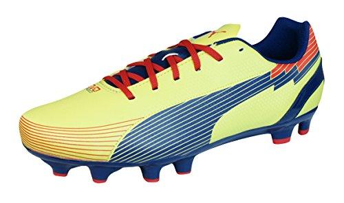 Puma evoSPEED 5 Graphic FG Homme Chaussures de football - Noir Rouge yellow