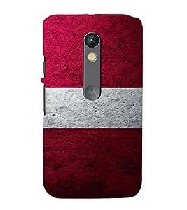 FUSON Flag Latvia Painted Vintage 3D Hard Polycarbonate Designer Back Case Cover for Motorola Moto X Play
