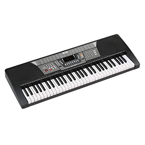 HM2 61 Tasten E-Piano, 100 Timbres / 100 Rhythmen / 8 Percussions, mit LED-Anzeige E-Orgel-Keyboard, für professionellen Unterricht - Schwarz