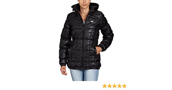 de3d7d122697e adidas Damen Winterjacke AC Long Padded - Solids, black, 36, O58622:  Amazon.de: Sport & Freizeit