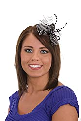 Black and Silver Beaded Spider Hair Clip J24852