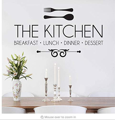 Lsfhb Die Küche Frühstück Mittagessen Abendessen Aufkleber Wandaufkleber Zitat Kunst Wandaufkleber Wandbild Moderne Kreative Dekoration 50X90 Cm