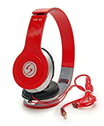 Signature Brand High Quality VM-46 Stereo Bass Solo Xiaomi Redmi Note 3 Compatible Headphones For Iphone,Samsung, Redmi and All Other Smartphones,(Red Color)