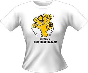 Girlie Lady Fun T-Shirt frech bedruckt /NEU/ Niedlich, aber kann Karate ! / Größe M