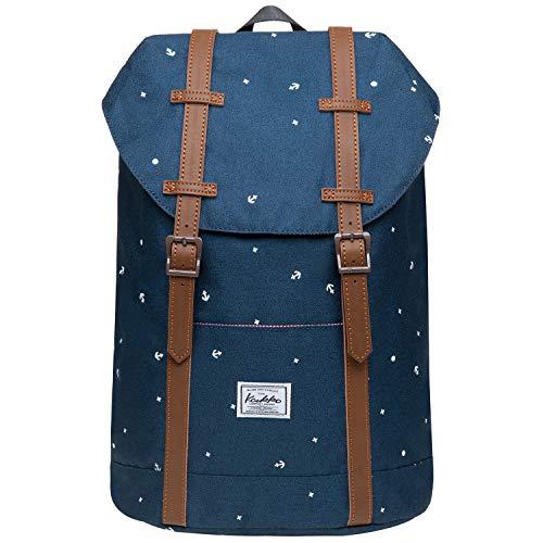 """KAUKKO Rucksack Vintage Reiserucksack für 12\"""" Notebook Lässiger Daypacks Schultaschen, 36 * 24 * 14cm/ 12L"""