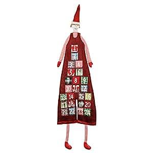 pajoma XXL Adventskalender im Jungen Design, 24 Taschen zum Befüllen aus Stoff, H 180 cm, Weihnachten
