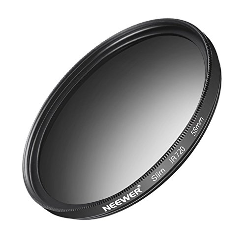 Neewer 58mm IR720 Infrarot X-Ray Objektiv-Filter aus HD Optikglas und Aluminiumlegierung Rahmen