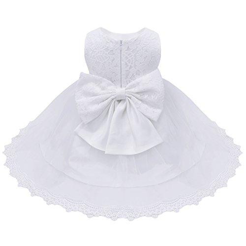 b0e84d834956a YiZYiF Bébé Filles Princesse Robe de Baptême en Dentelle Grande Noeud  Papillon (6-9
