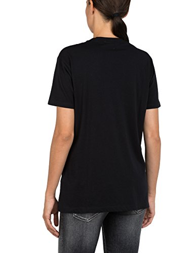 Replay Damen T-Shirt Schwarz (BLACKBOARD 99)