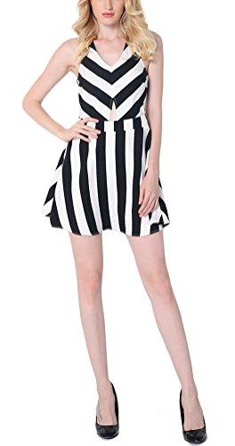 sunifsnow-vestido-plisado-rayas-sin-mangas-para-mujer-negro-raya-blanco-y-negro-xx-large