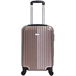 Slimbridge Borba 55cm 4-ruedas maleta de cabina dura, Champán