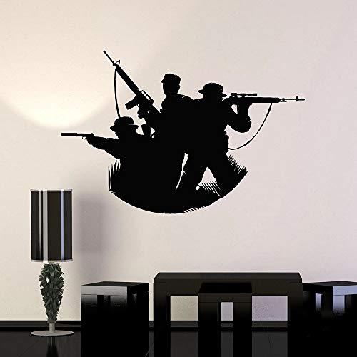 BFMBCH Krieg wandaufkleber menschen höhle soldaten militär vinyl wandaufkleber küche moderne spielzimmer entfernbare wandaufkleber A2 42x62 cm