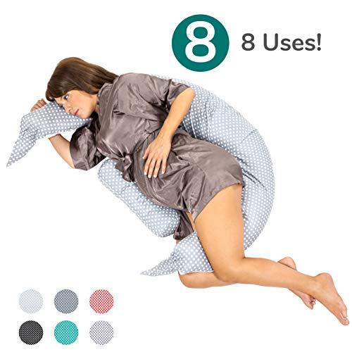 Koala Babycare® Almohada para Embarazadas para Dormir y Amamantar U Pillow con Soporte Lumbar, Cervical...