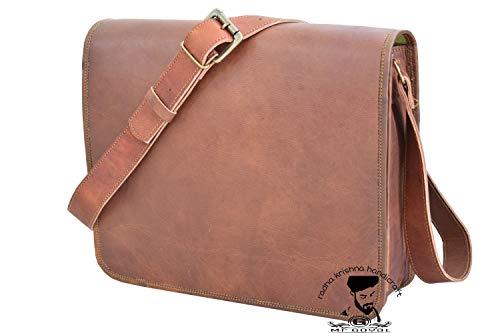 Rkh vintage cuoio di borsa a mano cartella Crossbody borsa a tracolla 12 X 16 INCH BAG