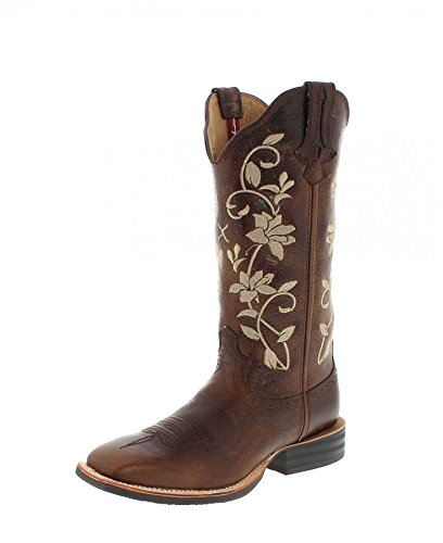 Twisted X Boots Stiefel 1790 Ruff Stock Braun Damen Westernreitstiefel (39, Bomber)