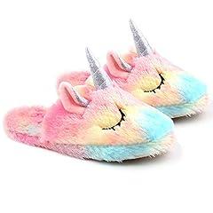 Idea Regalo - Pantofole Unicorn per Donna, Ragazza, novità Pantofole Animali con Suola Antiscivolo, UK 3-5.5 / EU 35-38