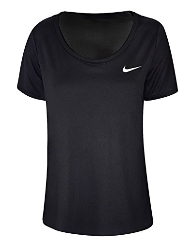 Nike Damen Dri-FIT Trainings T-Shirt, Black/White, L