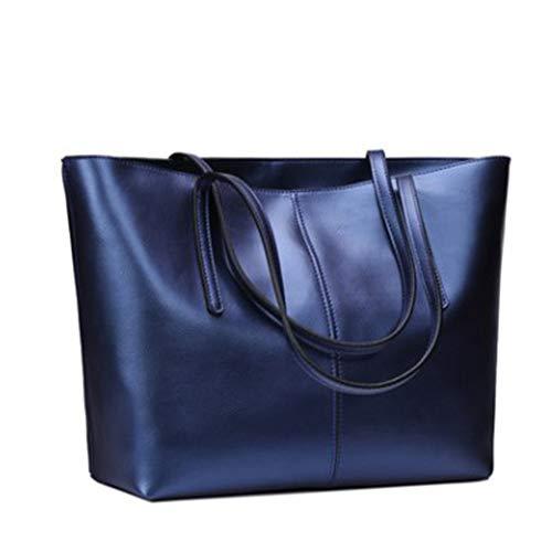 WY-AYNG Damen Handtasche Schultertaschen Leder Stoff Dating/Einkaufen / Business/Tourismus Bequem, Verschleißfest,Blue