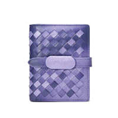 WU Zhi Lady In Pelle Fermasoldi Portafogli Purple