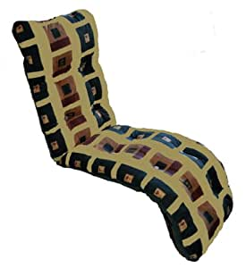 Brand New Replacement Garden Recliner Relaxer Chair Cushion Yellow Pattern
