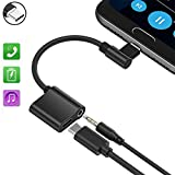 Typ C Audio Kabel, AD ADTRIP USB C 3.5 Typ C Audio Adapter für Huawei Mate 10 Pro/P20/P20 Pro, Motorola Moto Z/Z Force, Xiaomi 6/Note 3/Note 3 Smartphones Audio und Laden