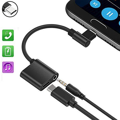 Typ C Audio Kabel, AD ADTRIP USB C 3.5 Typ C Audio Adapter Kompatibel mit Huawei Mate 10 Pro/Mate 20 Pro/P20/P20 Pro, Motorola Moto Z/Z2 Force, Xiaomi Mi 8/Mix 2 Smartphones Audio und Laden