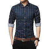 Luckycat Herren Kleidung Slim Fit Hemd Langarm Plaid Baumwolle Casual Soziales Männer Hemd Mode 2018