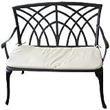 Charles Bentley Garden Metal Cast Aluminium 2 Seater Garden Patio Bench Seat