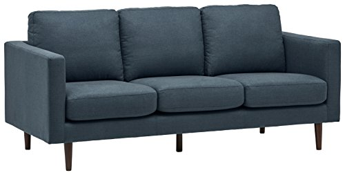 Amazon Marke - Rivet Revolve Modernes Sofabett, B 203 cm, Denim